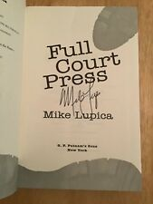 SIGNED by Mike Lupica - Full Court Press HC 1st/1st + Pic