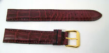 100% Genuine ALLIGATOR watch band WINE color 19 mm Matte Finish* Made in Italy