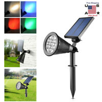 2 in1 Solar Power Spot Light LED Garden Lamp Outdoor Walkway Lawn Landscape Path