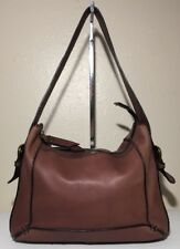 Vintage Fossil Maddox Bucket Bag Brown Soft Leather Hobo Shoulder Handbag