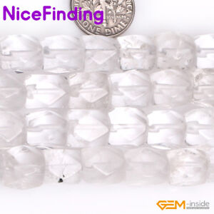 """9x11mm Faceted Gemstone Loose Beads For Jewelry Making Strand 15"""" Assorted Stone"""