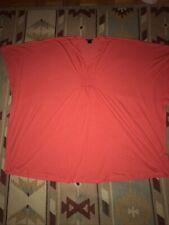 Womens Natori Bat Wing Tunic Size Small Red Orange