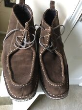 Johnston Murphy Mens 25-0552 Brown Suede Chukka Boots Size 8.5 Sheep Skin