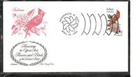 US SC # 1966 State Birds And Flowers ( Indiana ) FDC . Artmaster Cachet