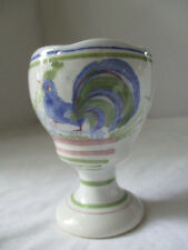 HENRIOT QUIMPER FRANCE ROOSTER IN GRASS EGG CUP