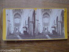 Ancienne photo stereo BEAUNE Cote d Or Bourgogne interieur eglise Notre Dame 3D