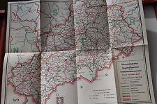 28039 Landkarte z. Kursbuch 1971 72 Karl-Marx-Stadt Chemnitz Kraftomnibusverkehr