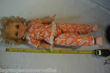 C6 Ancienne poupée habillée old doll 2 clodrey poliflex