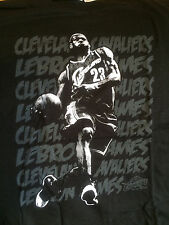 """NWT~LEBRON JAMES CLEVELAND CAVALIERS """"TO THE BASKET"""" SHIRT (L)"""