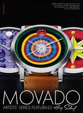 Movado Artist Series watch print ad 2009 Kenny Scharf - circles