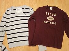 Lot of 2 Boys ABERCROMBIE & Fitch KIDS Fall T Shirts Size XL Mens S