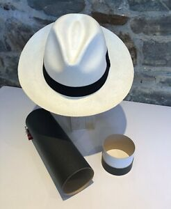 Genuine Hand Made Rollable Panama Hat from Cuenca with Travel Tube