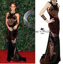 NEW ETRO RUNWAY CAMPAIGN  RED CARPET DIVINE VELVET DRESS GOWN 40 - 4