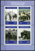 Chad 2019 MNH WWII WW2 Normandy Landings D-Day 4v M/S Military Ships Stamps
