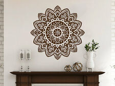 Mandala Decals Mehndi Vinyl Sticker Wall Decal Lotus Flower Namaste Bedroom NV28