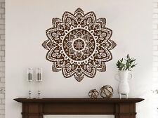 Mandala Decals Mehndi Vinyl Sticker Wall Decal Lotus Flower Namaste Bedroom NV28