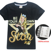 NWT JoJo Siwa Girls Top Short Sleeve T Shirt Tee Be Your Own Star Size  6 -12