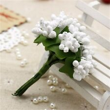 12pcs/lot Artificial Flower Stamen Wire Stem/Marriage DIY Wreath Wedding Decor