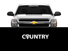 """Country Bowtie Chevy Chevrolet Decal Sticker 23"""" Car Truck Window (Choose Color)"""