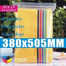 100x Zip Lock 380 X 505mm Resealable Ziplock Plastic Bags Recloseable Zipper bag