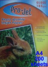 ProJet A4 Gloss 185 GSM Photo Inkjet Paper 200 Sheets