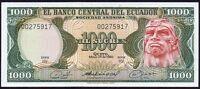 1980 ECUADOR 1000 SUCRES BANKNOTE * 0275917 * UNC * P-120b *