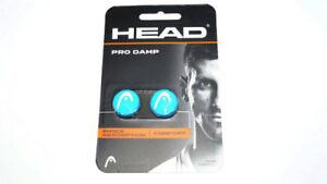 *NEU*2x Head Pro Damp blau weiß Xtra Logo Dämpfer blue white Dampener 2er vibra