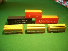 6 x OO Gauge Containers Triang/Hornby