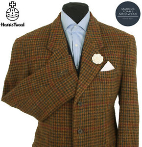 Harris Tweed Jacket Blazer 42R Country Windowpane Check Hacking Hunting Sports
