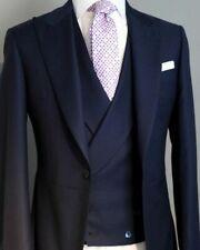 DARK NAVY Men's Wedding Suits Groom Best Man Party Tuxedos Tailored 3 Pieces