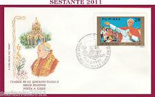 W262 VATICANO FDC ROMA VISITA PAPA GIOVANNI PAOLO II FILIPPINE ILOILO 1981