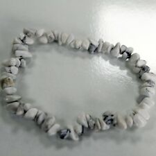 White Jasper Chip stone Bracelet Semi Precious Gemstone