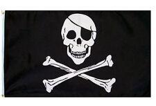 3' X 5' 3x5 Pirate Jolly Roger Skull Crossbones Patch Eye Patch Flag USA SHIPPER