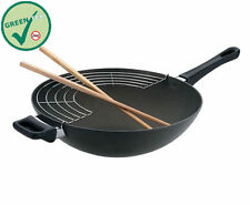 SCANPAN Classic Ceramic Titanium 32cm Wok With Rack