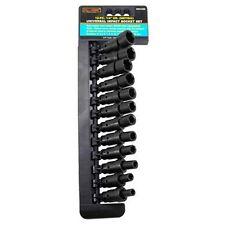 "12 Piece 1/4"" Drive Universal U-Joint Wobble Air Impact Metric Socket Tool Set"