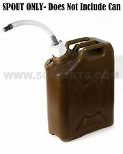 Scepter Military Fuel and Jerry Can Spout - Multi-Fuel 3/4 Inch Hose with Filter