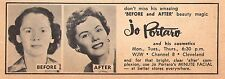 1956 Tv Guide Ad~JO PORTARO~CLEVELAND BEAUTY & FASHION EXPERT~WJW~Cosmetic Show