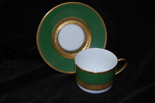 A. Raynaud & Co. Limoges Prince Murat Tea Cup & Saucer with Gold Incrustation