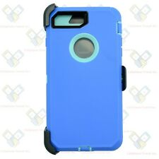 iPhone 8 Plus Defender Case Cover SKY BL TL w/[Belt Clip Fits Otterbox]&Screen