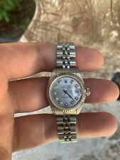Ladies Rolex Oyster Perpetual Datejust Watch 6516 Stainless Steel 26mm