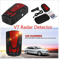 360 Degree 16 Band Autos LED Radar Detector Laser Voice Alert Speed Detector V7