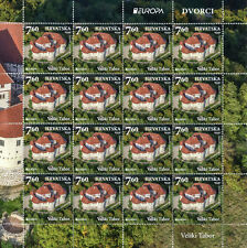 Croatia 2017 MNH Castles Europa Veliki Tabor Trakoscan Castle 2x 16v M/S Stamps
