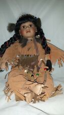 Vintage Collectible Bautiful Native American Doll / Porcelain