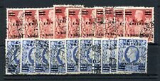 BOFIC ERITREA 1950 5s and 10s surcharges each perfined x 10 fu. SG E24, 25