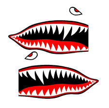 "Set of 2 Remote Control (RC15) 3"" Flying Tigars Shark Teeth RC Airplane Sticker"