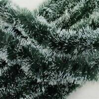 200cm (6.5ft) x 8.5cm Deluxe Pine Christmas Garland Decoration Plain Green
