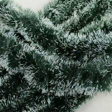 200cm (6.5ft) x 8.5cm Deluxe Pine Christmas Garland Decoration Plain Green
