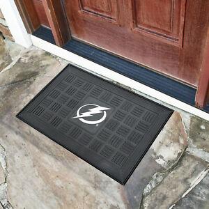 NHL - Tampa Bay Lightning Medallion Heavy Duty Durable Vinyl Doormat - 3-D logo