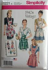 Simplicity Sewing Pattern 1221 Misses 1940's VINTAGE APRON  APRONS  NEW