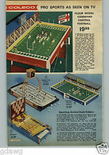 1972 PAPER AD Game Tabletop Floor Model Football Coleco Hockey Stanley Cup